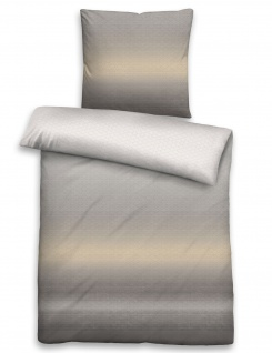 Biberna Baumwoll-Satin Bettwäsche 636085-019 grau Farbverlauf