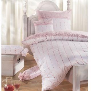 Janine Chinchilla Edelflanell Bettwäsche 78007 -01 rose Wendeoptik romantisch