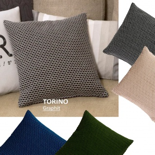 Scantex Kissenhülle Torino 40 x 40 cm gewebt mit RV Farbauswahl