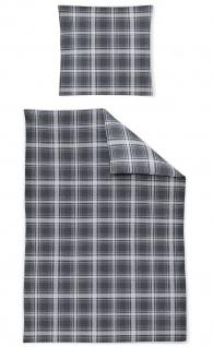Irisette Mako Satin Bettwäsche CAPRI-K 8041-11 grau Karo-Muster 100% Baumwolle