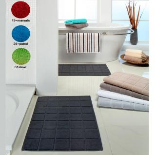 Ross uni Zwirn-Frottier Duschvorlage oder Badematte Quadraten-Muster Farbauswahl