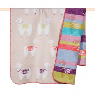 PAD Kuscheldecke LAMA Multi 100 x 150 cm Baumwollmischung für Kinder