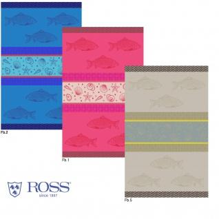 Ross Baumwolle Geschirrtuch 1646 Meerestiere-Querstreifen 50 x 70 cm drei Farben