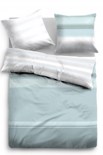Tom Tailor Baumwoll-Satin Bettwäsche 67608-810 Farbverlauf in Aquablau