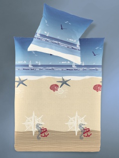 Irisette Bettwäsche Calypso 8163-20 Seersucker, Maritim Blau Baumwolle