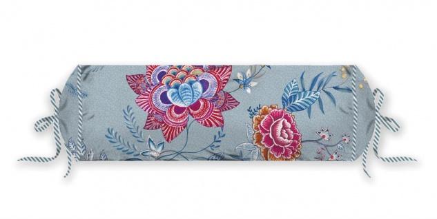 PIP Studio Nackenrolle Flower Festival Blue 22 x 70 cm Blumenmuster