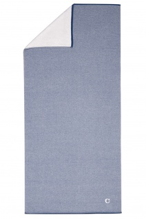 Cawö Home Saunatuch Denim 987- 16 blau Uni Melange 80 x 200 cm Baumwolle Frottee