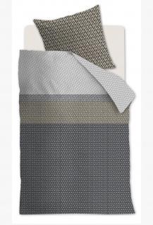 Beddinghouse Bettwäsche Renforcé Maudi Grau aus 100 % Baumwolle geometrisch