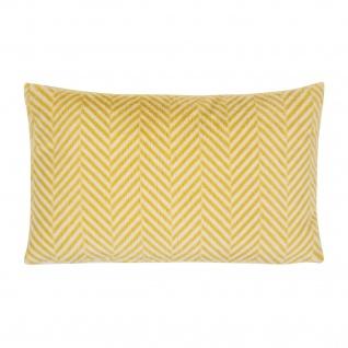 pad Kissenhülle Zella 35 x 60 cm yellow gemustert mit RV Polyester Felloptik