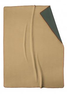 Biederlack Wohndecke Lost Dots Camel 150 x 200 cm aus Baumwollmischung