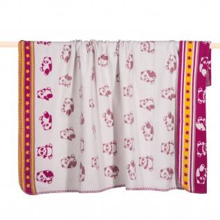 PAD Kuscheldecke PANDA pink100 x 150 cm Baumwollmischung für Kinder