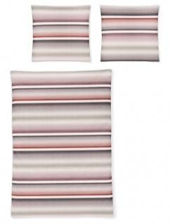 Irisette Biber Bettwäsche Davos 8016-70 Streifenverlauf-Muster 100% Baumwolle - Vorschau 2