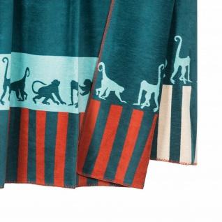 PAD Wohndecke Monkey blue 150 x 200 cm aus einem Baumwollmischgewebe