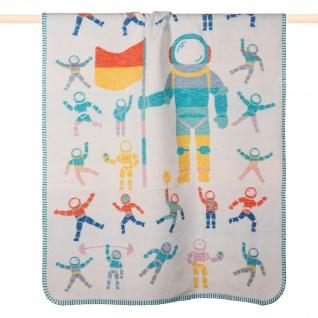 PAD Kuscheldecke SPACE mehrfarbig 100 x 150 cm Baumwollmischung für Kinder