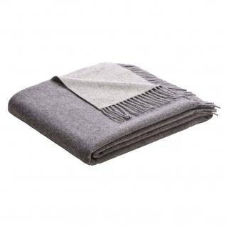 Biederlack Wolle-Kaschmir Soft Impression grau-silber 130 x 170 cm klassisch - Vorschau 1