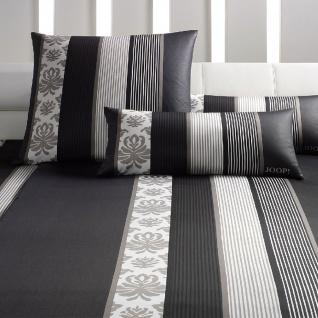 JOOP! Bettwäsche Ornament Stripes 4022-09 schwarz klassisch exklusiv Baumwolle