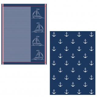Ross 2-er Geschirrtücher Set 1807-Maritim 100% Baumwolle 50 x 70 cm