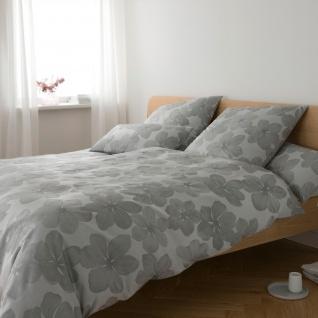 Elegante Jacquard-Satin Bettwäsche Generous 2329-09 silber-grau 100% Baumwolle