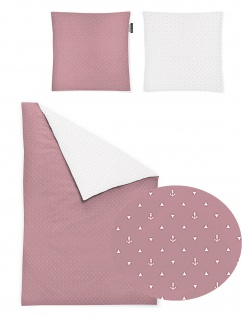 Irisette Kinder-Bettwäsche Jessica 8256-60 rosa 100 x 135 cm 100% Baumwolle