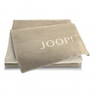 JOOP! Doubleface Wohndecke 150 cm x 200 cm Cashew-Macchiato Baumwollmischung