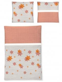 Irisette Bettwäsche Davos 8336-50 orange Edel-Feinbiber