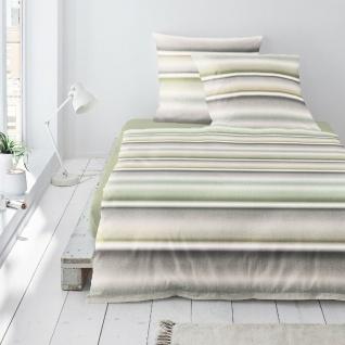 Irisette Biber Bettwäsche Davos 8016-30 grün Farbverlauf 100 % Baumwolle - Vorschau 2