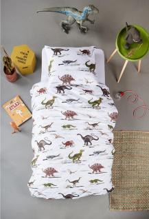 Baby- und Kinderbettwäsche Renforcé KIDS Jurassic Green aus 100 % Baumwolle