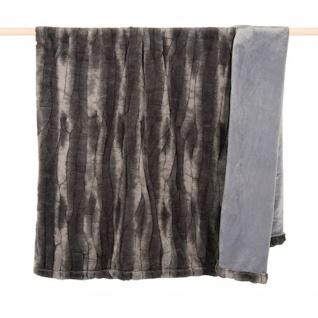 pad Kunstfelldecke Cozy grey 140 x 190 cm Landhausstil extrem leicht und weich