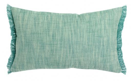 Winkler Kissenhülle JET 30 x 50 cm mit Fransen 100% Baumwolle einfarbig - Vorschau 3