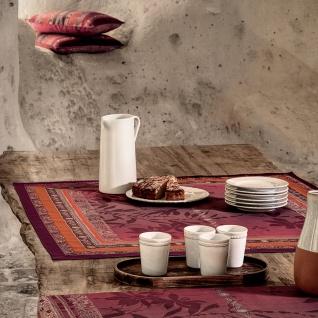 Bassetti Tischdecke MALVE R1 rot 110 x 110 cm grobe robuste Stoff-Qualität