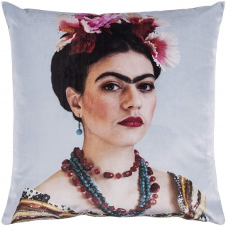 pad Kissenhülle Rosanna Sky 45 x 45 cm aus 100% Polyester-Velour mit RV