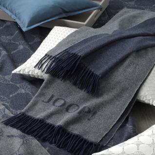 JOOP! Caress Wohnschal Plaid Schiefer 70 cm x 190 cm Wolle-Kaschmir Mischung - Vorschau 3