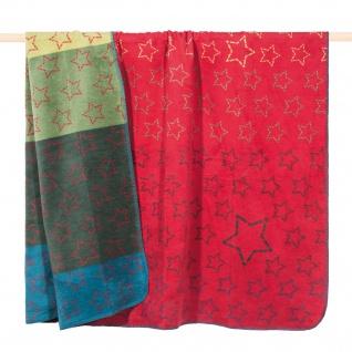 PAD Wohndecke Kuscheldecke ZODIAC Red 150 x 200 cm Sterne Baumwollmischung