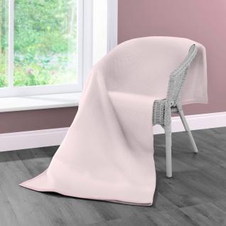 Biederlack Wohndecke Cotton Home 7 | Struktur Lotus - 150 x 200 cm Baumwollmischung
