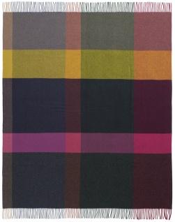 Biederlack Wolle-Kaschmir-Plaid Dark Velvet bunt 130 x 170 cm mit Fransen