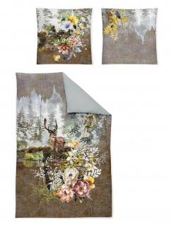 Irisette Flausch-Cotton Bettwäsche Set Peach 8834-80 Digitaldruck Wendeoptik