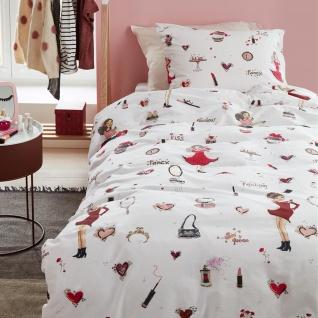 Beddinghouse Kinderbettwäsche KIDS Fashion Rosa 135 x 200 cm aus 100% Baumwolle