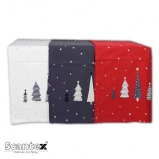 Scantex Tischläufer Christmas 45 x 150 cm drei Farben 100% Baumwolle Weihnachten