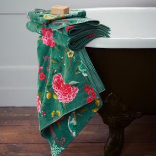 PIP Studio Frottee Serie Good Evening Green Blumenmuster 100% Baumwolle
