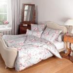 Janine Romantico Bettwäsche Mako-Seidensatin 46000-01 rosa-silber 100% Baumwolle romantisch