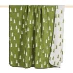 Pad Wolldecke Forrest 150 x 200 green   Baumwollmischung