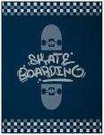Biederlack Decke Young & Fancy Skater 150 x 200 cm aus Baumwollmischung