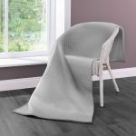 Biederlack Wohndecke Cotton Home 7 | Struktur Graphit- 150 x 200 cm Baumwollmischung
