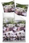 Janine Mako-Satin Bettwäsche Modern Art traube-grün 42023-05 aus 100% Baumwolle