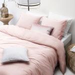 WALRA Bettwäsche The New Vintage rosa, uni 100% Baumwolle User Look