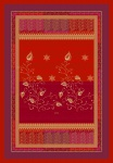 Bassetti Plaid | BERNINA V1 rot 135 x 190 cm Ornamente mediterran gesteppt