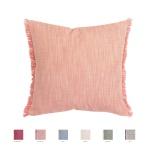 Winkler Kissenhülle JET 45 x 45 cm mit Fransen 100% Baumwolle einfarbig