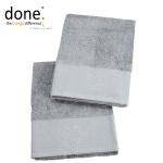 done.® BLACK LINE STONE STAR Handtuch Set 2-tlg. silver