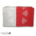 Scantex Tischläufer Candela 45 x 150 cm 100% Baumwolle Weihnachten