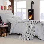Estella Flanell Bettwäsche Latemar 5803-820 silber weich und wärmend für den Winter